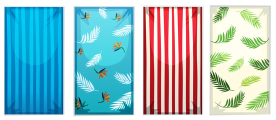 Wall Mural - Set of colorful beach towels