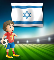 Israel football player template