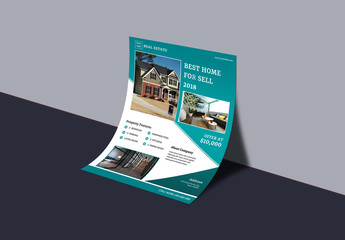 Business Flyer Layout with Blue Accents