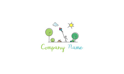 Nature playgrounds vector logo image