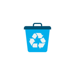 Recycle icon flat element. Vector illustration of recycle icon flat isolated on clean background for your web mobile app logo design.