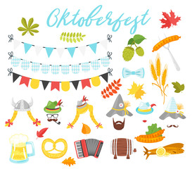 Oktoberfest holiday symbols