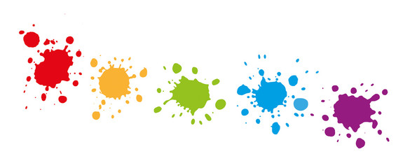 Reihe mit Farbklecksen