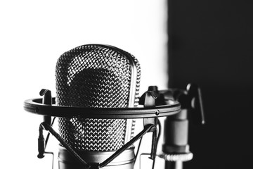 Studio microphone on the stand
