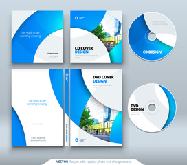 CD envelope, DVD case design. Business template for CD envelope and DVD disc case.