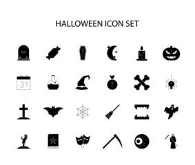 Line icons set. Halloween pack. Vector illustration