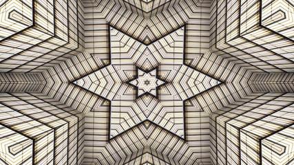 Colorful Hypnotic  Symmetric Kaleidoscope