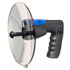 Parabolic microphone, 3D rendering