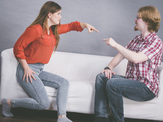 Man and woman having fight