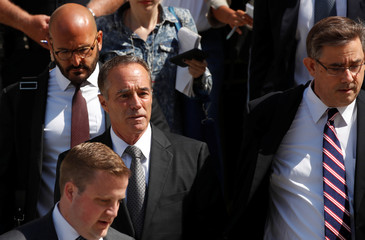 U.S. Rep. Christopher Collins departs U.S. Courthouse following arraignment in New York