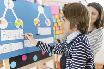 Kid Solving Math Exercises