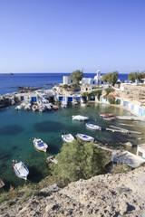 Fishing village Mandrakia on the island of Milos, Cyclades, Greece.
