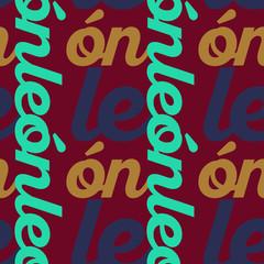 Leon, mexico seamless pattern