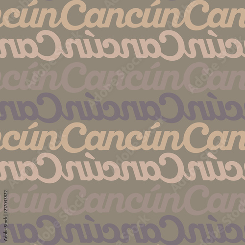 Cancun Mexico Seamless Pattern Stock Image And Royalty Free Vector