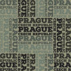 Prague, Czech Republic seamless pattern