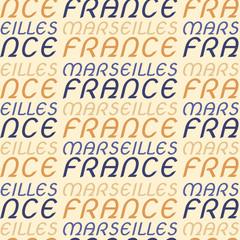 Marseilles, France seamless pattern