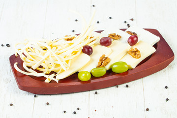 Caucasian cheeses plate
