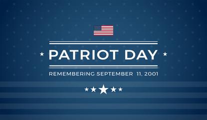 Patriot Day 9/11 blue background Remembering September 11 2001 - vector illustration Wall mural