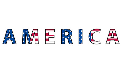 Word of America, symbol of the United States of America