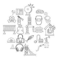 Terrible event icons set. Outline set of 25 terrible event vector icons for web isolated on white background