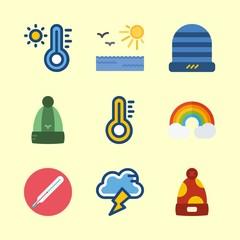 weather icons set. symbol, majestic, view and solar graphic works