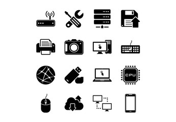 16 Technology and Hardware Icons