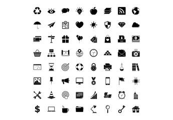 64 Black Universal Icons