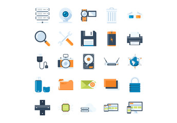25 Technology and Hardware Icons