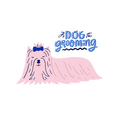 Dog Grooming Concept