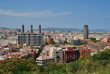Barcelona, widok na miasto