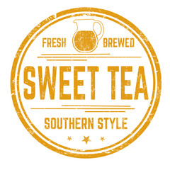 Sweet tea sign or stamp