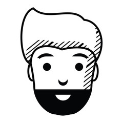 cartoon man with beard
