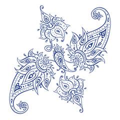 Exotic Paisley. Ethnic ornament. Hand Drawn Boho Vector illustration