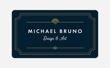 Art Deco Business & Gift Card Template  (Live Stroke Path)