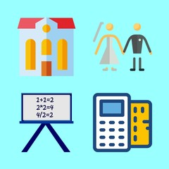 man icons set. mortgage, insurance, college and success graphic works
