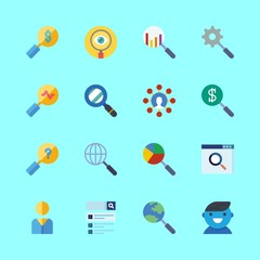 seo vector icons set. search and user in this set