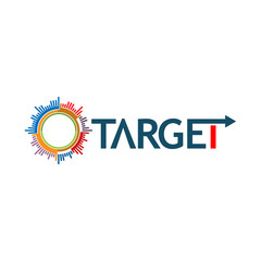 Word target vector. Vector illustration on white background