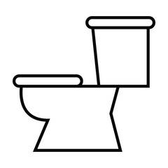 Symbol of Toilet with Thin line Icon