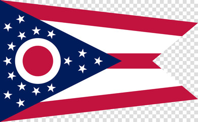 Flag of the US State of Ohio, detailed vector.