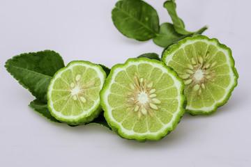 ergamot slice with leaf
