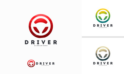Abstract Circle Steering logo designs vector, Driver logo template Fototapete