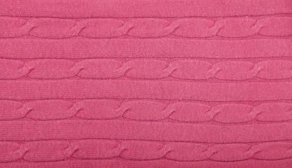 Background of knitted wool fabric close up texture