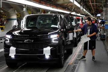 GM Silverado and Sierra pickup truck plant in Fort Wayne Indiana