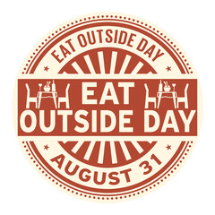 Eat Outside Day, August 31