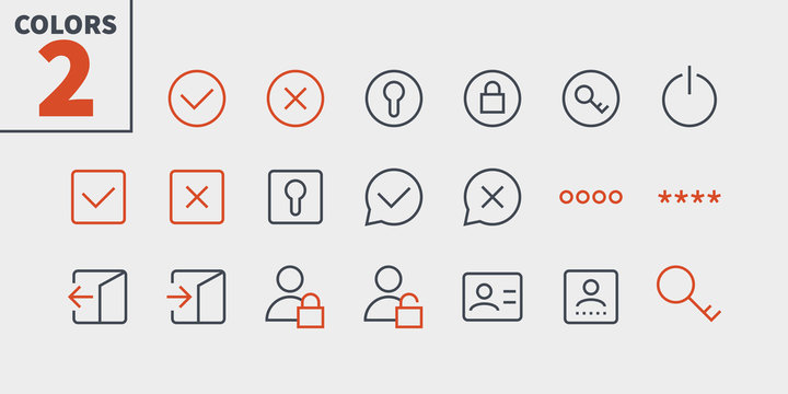 Login UI Pixel Perfect Well-crafted Vector Thin Line Icons 48x48 Ready for 24x24 Grid for Web Graphics and Apps with Editable Stroke. Simple Minimal Pictogram Part 2-3