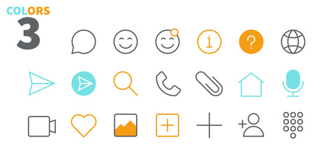 Chat UI Pixel Perfect Well-crafted Vector Thin Line Icons 48x48 Ready for 24x24 Grid for Web Graphics and Apps with Editable Stroke. Simple Minimal Pictogram Part 1-1