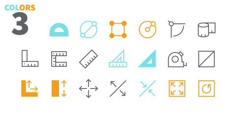 Measure Pixel Perfect Well-crafted Vector Thin Line Icons 48x48 Ready for 24x24 Grid for Web Graphics and Apps with Editable Stroke. Simple Minimal Pictogram Part 1
