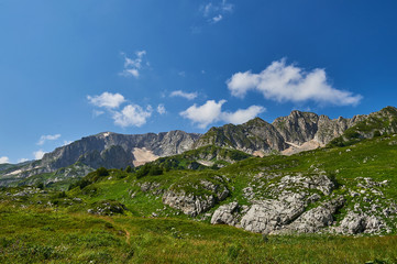 The Caucasus mountains in Russia