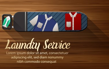 Laundry service design with ironing board