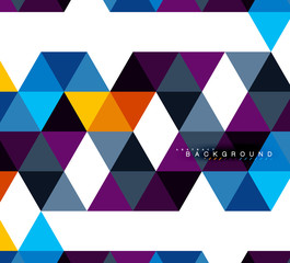 Multicolored triangles abstract background, mosaic tiles concept